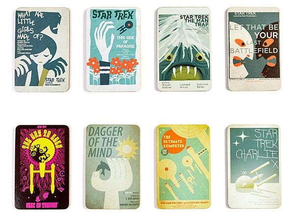Star Trek Coasters Classic Art Wood Coasters