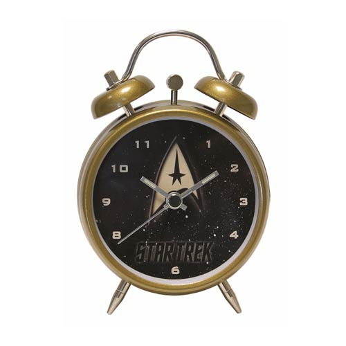 Star Trek Command Insignia Emblem Mini Twin Bell Alarm Clock