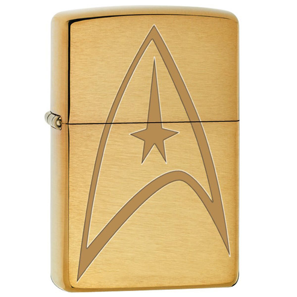 Star Trek Command Uniform Brushed Brass Zippo Lighter