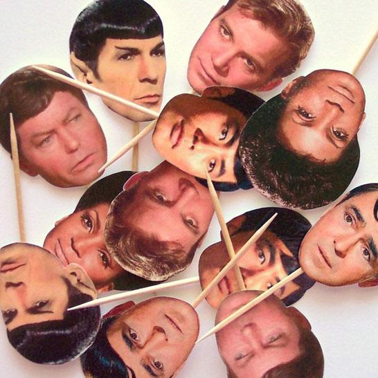 Star Trek Cupcake Toppers