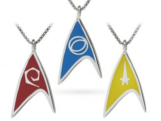 Star Trek Delta Enamel Necklaces (Division Colors)
