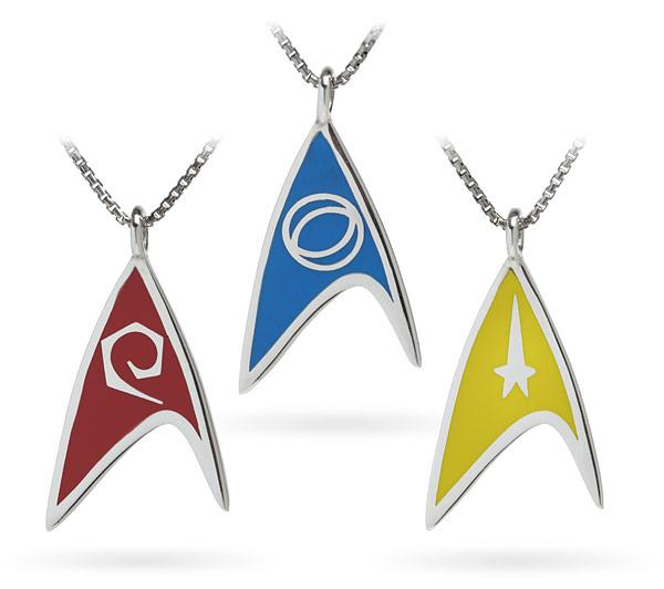 Star Trek Delta Enamel Necklaces (Division Colors)