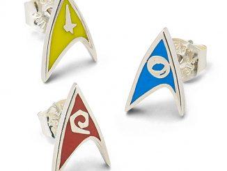Star Trek Delta Enamel Stud Earrings