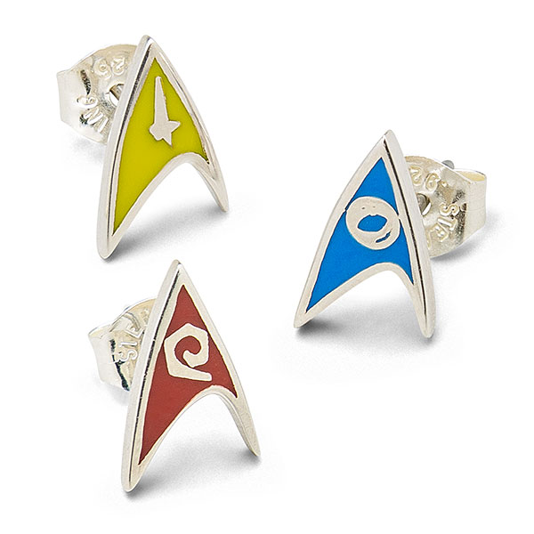 Star Trek Delta Enamel Stud Earrings