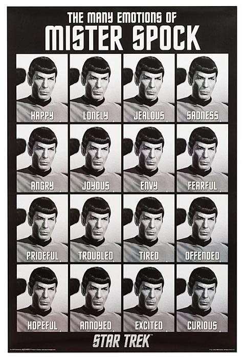 Star Trek Emotions of Spock Poster