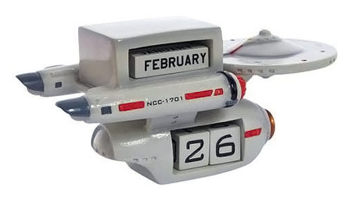 Star Trek Enterprise Calendar Statue