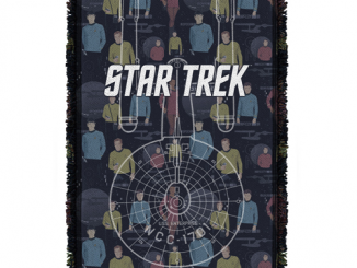 Star Trek Enterprise Crew Woven Tapestry Throw Blanket