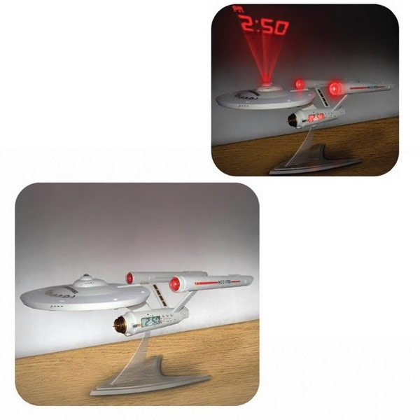 Star Trek Enterprise Projection Alarm Clock