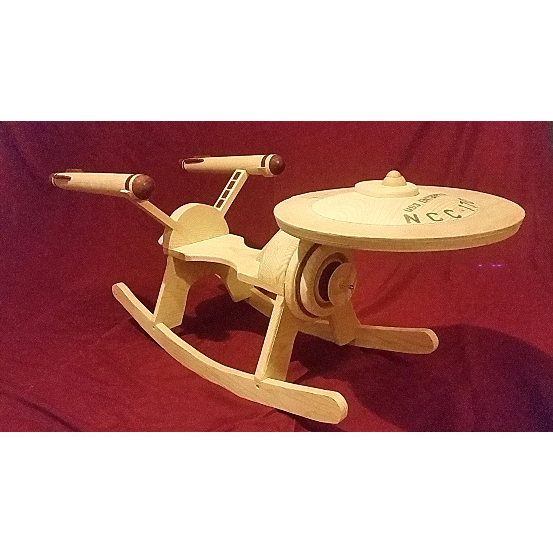 Unfinished Wooden Star Trek Inspired Rocker