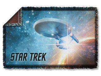 Star Trek Final Frontier Woven Tapestry Blanket