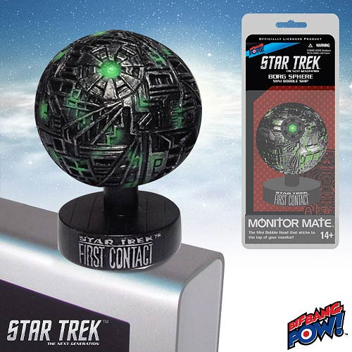 Star Trek First Contact Borg Sphere Monitor Mate Bobble Ship