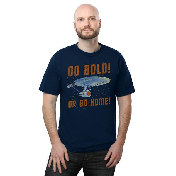 Star Trek Go Bold Or Go Home T-Shirt