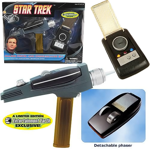 Star Trek Gold Phaser and Gold Communicator Set