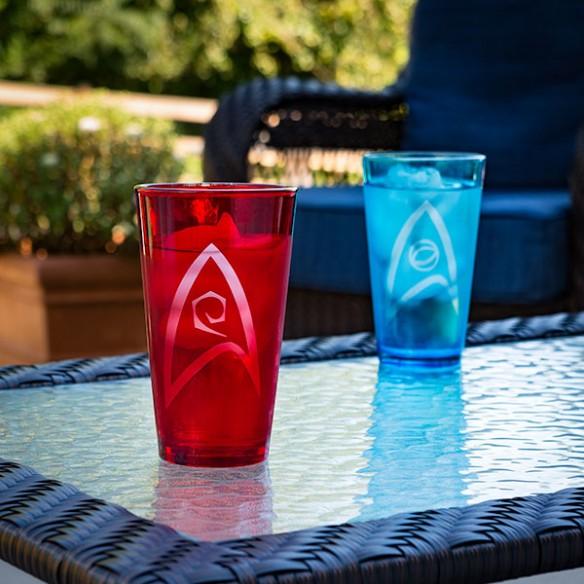 Star Trek Insignia 4 Pack Pint Glass Set