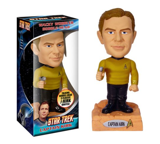 Star Trek Kirk talking Wacky Wobbler