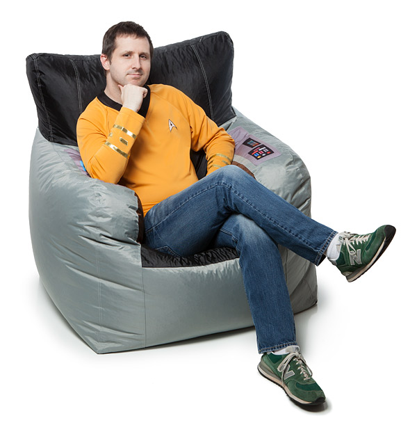 Swell Star Trek Kirks Command Chair Bean Bag Cover Andrewgaddart Wooden Chair Designs For Living Room Andrewgaddartcom