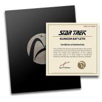 Star Trek Klingon Bat'leth Replica Certificate of Authenticity