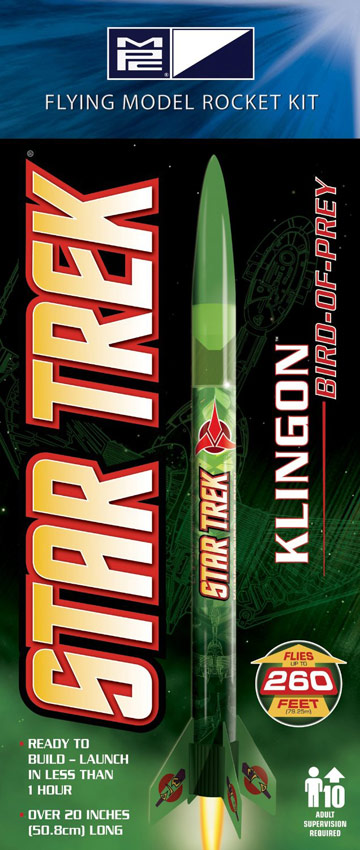 Star Trek Klingon Bird of Prey Rocket Model Kit