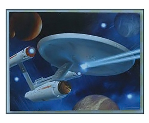Star Trek Light Up Canvas Print