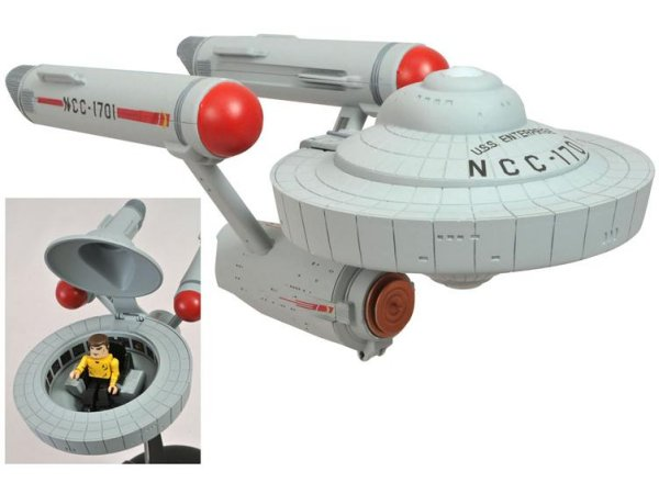 Star Trek Minimates Starship Enterprise with Captain Kirk