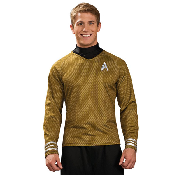 Star Trek Movie Captain Kirk Gold Shirt