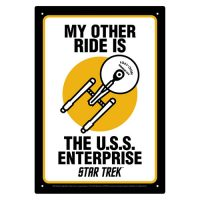 Star Trek My Other Ride Tin Sign