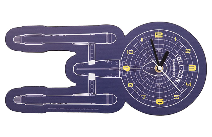 Star Trek NCC-1701 Shaped Deco Clock