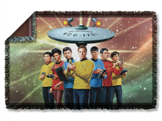 Star Trek Original Crew Woven Tapestry Throw Blanket