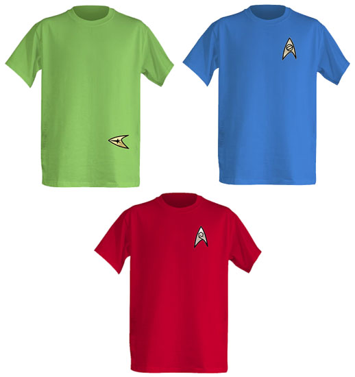 Star Trek Original Series Officially Licensed Crew T-Shirts