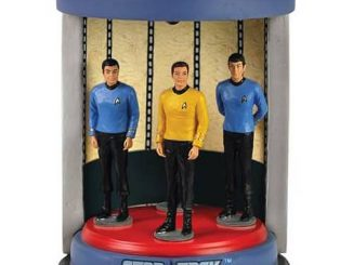 Star Trek Original Series Transporter Crew Lighted Statue