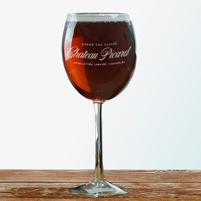 Star Trek Picard Chateau Picard Logo Wine Glass