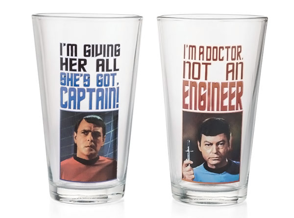 Star Trek Pint Glasses