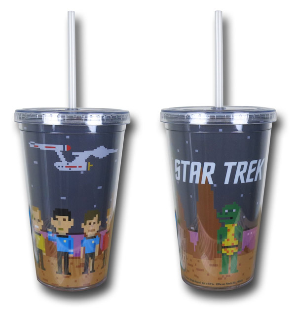 Star Trek Pixelated Cold Cup with Lid