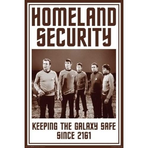 Star Trek Poster Homeland Security