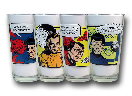 Star Trek Quotes Pint Glass Set
