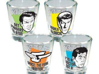 Star Trek Quotes Shot Glass 4-Pack