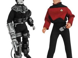 Star Trek Retro Series 9 Picard and Borg Figure Set