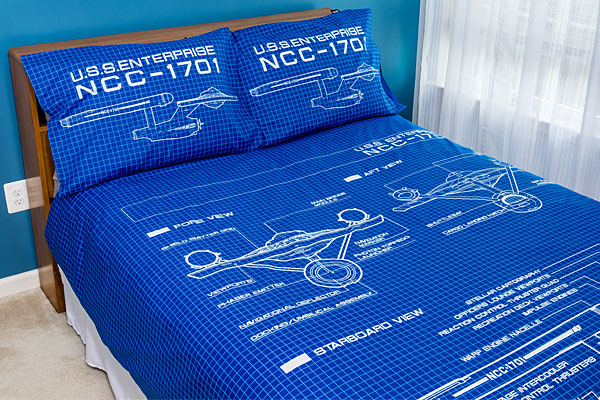 Star Trek Schematic Duvet Cover and Pillow Cases