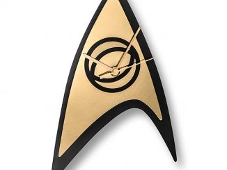 Star Trek Sciences Emblem Clock