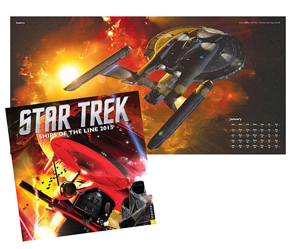 Star Trek Ships of the Line 2015 Wall Calendar