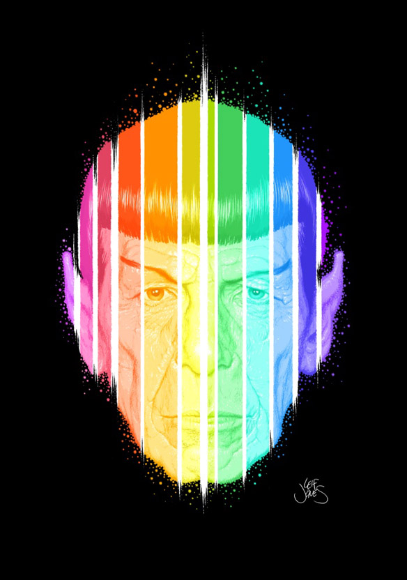 Star Trek Spock Art Print