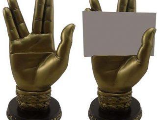 Star Trek Spock Hand Business Card Holder Statue