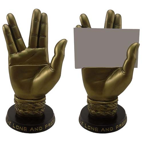 Star Trek Spock Hand Business Card Holder Statue