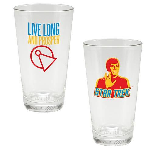 Star Trek Spock Live Long and Prosper Glass Tumbler