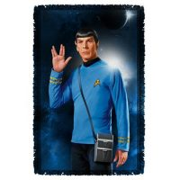 Star Trek Spock Woven Tapestry Throw Blanket