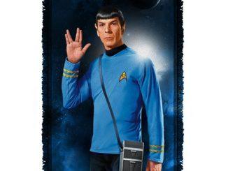 Star Trek Spock Woven Tapestry Throw Blanket