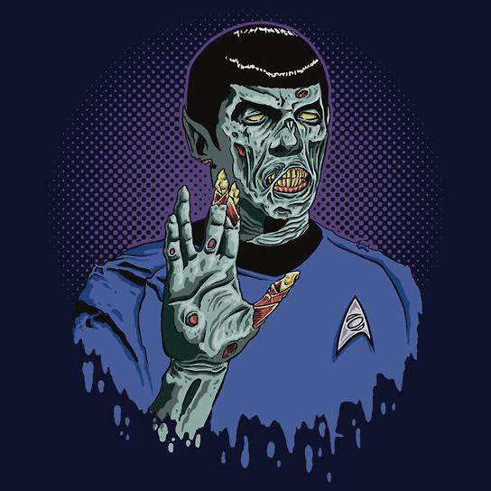 Star Trek Spock Zombie T-Shirt