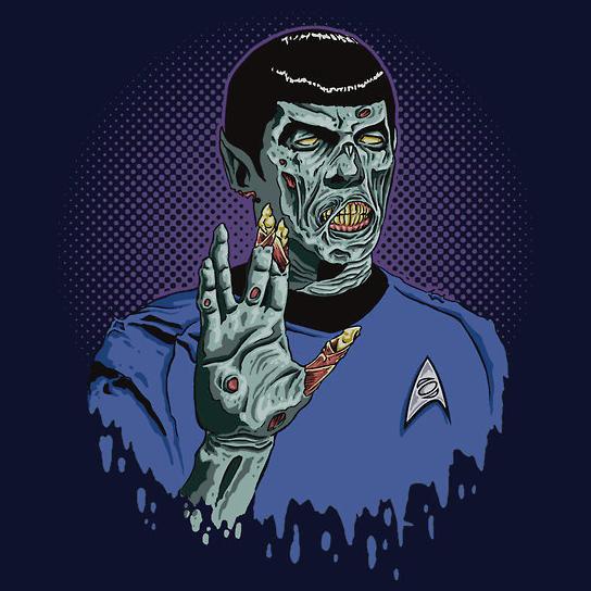Star Trek Spock Zombie T-Shirt
