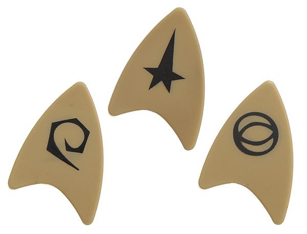 star trek starfleet guitar pick set. Black Bedroom Furniture Sets. Home Design Ideas