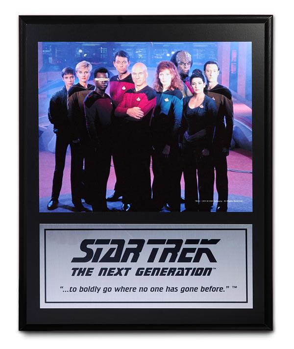 Star Trek TNG Mounted Cast Plaques